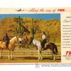 Postales: POSTAL PUBLICITARIA DE LA AEROLÍNEA TWA (TRANS WORLD AIRLINES). . Lote 19652360