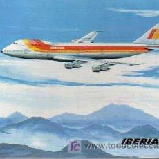 Postales: POSTAL DE IBERIA - LINEAS AEREAS BOEING 747. Lote 194490143