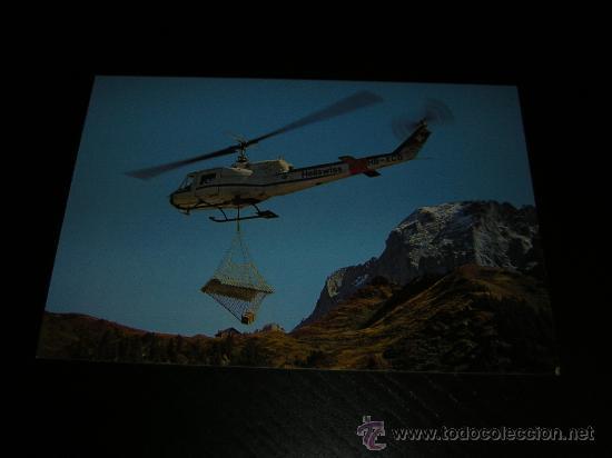 AVION - HELICOPTERO AGUSTA BELL 204 B SUIZO - POSTAL ORIGINAL SIN CIRCULAR - AVIONES - AVIACION (Postales - Postales Temáticas - Aeroplanos, Zeppelines y Globos)