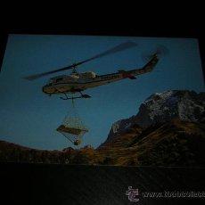 Postales: AVION - HELICOPTERO AGUSTA BELL 204 B SUIZO - POSTAL ORIGINAL SIN CIRCULAR - AVIONES - AVIACION. Lote 19833555