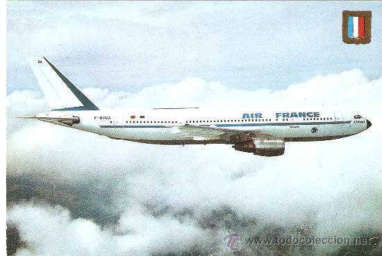 POSTAL AIRBUS A300B2. AIR FRANCE.ESCUDO DE ORO. (Postales - Postales Temáticas - Aeroplanos, Zeppelines y Globos)