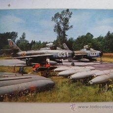 Postales: POSTAL DE AVION MILITAR: CAZA-BOMBARDEROS F 84 F DE FUERZAS AEREAS BELGAS ( AÑOS 60 APROX). Lote 21920994