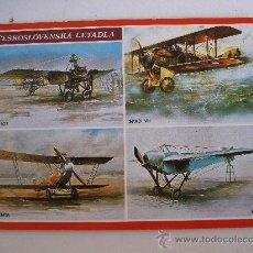 Postales: POSTAL CHECA DE AVIONES ANTIGUOS - SIN CIRCULAR. Lote 21921185
