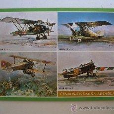 Postales: POSTAL CHECA DE AVIONES ANTIGUOS - SIN CIRCULAR. Lote 21938994