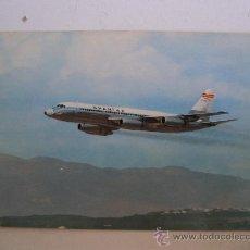 Postales: POSTAL DE AVION: SPANTAX CONVAIR CV 990 A CORONADO (AÑOS 70 APROX). Lote 21940217