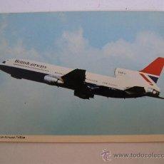 Postales: POSTAL DE AVION: BRITISH AIRWAYS TRI STAR (AÑOS 70 APROX). Lote 21940245
