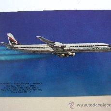Postales: POSTAL DE AVION: MC DONNELL DOUGLAS DC8 - SUPER 61 (SIN CIRCULAR, AÑOS 60/70 APROX). Lote 21940335