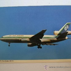 Postales: POSTAL DE AVION: AIR NEW ZEALAND DC-10 (SIN CIRCULAR, AÑOS 70 APROX). Lote 21940360