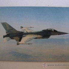 Postales: POSTAL DE AVION MILITAR: GENERAL DYNAMICS F-16 AIR COMBAT FIGHTER (SIN CIRCULAR). Lote 21940439