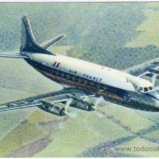 Postales: BONITA POSTAL AVION - AIR FRANCE - VICKERS - (AEROLÍNEA FRANCESA). Lote 26809608