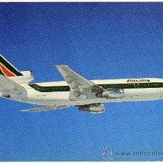 Postales: BONITA POSTAL AVION - ALITALIA - DC-10/30 - (AEROLÍNEA ITALIANA). Lote 23089105