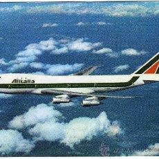 Postales: BONITA POSTAL AVION - ALITALIA - B-747 - (AEROLÍNEA ITALIANA). Lote 23089130