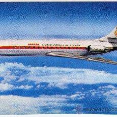 Postales: BONITA POSTAL AVION - IBERIA - CARAVELLE X-R - (AEROLÍNEA ESPAÑOLA). Lote 23089280
