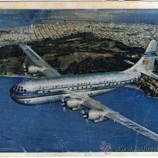 "Postales: MAGNIFICA POSTAL AVION - PAN AMERICAN - DOUBLE-DECKED ""STRATO"" CLIPPERS - (AEROLÍNEA NORTEAMERICANA). Lote 23090187"