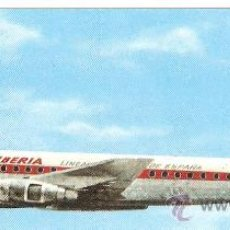 Postales: POSTAL IBERIA.AVION DOUGLAS DC-8 TURBOFAN.1965.SIN CIRCULAR.. Lote 27450735