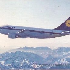 Postales: POSTAL A COLOR LUFTHANSA AIRBUS A310. Lote 24046470
