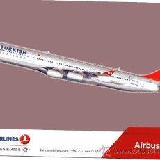 Postales: POSTAL DE AVIÓN AIRBUS 340 (TURKISH AIRLINES). Lote 24151561
