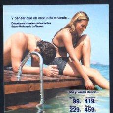 Postales: LUFTHANSA. AL DORSO *... SPANAIR* NUEVA.. Lote 46108962
