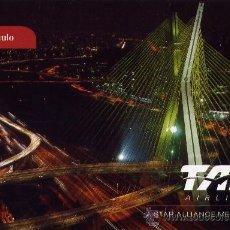 Postales: POSTAL DE COMPAÑIA AEREA - TAM AIRLINES (SAO PAULO). CON AVIÓN EN EL REVERSO. Lote 24414663