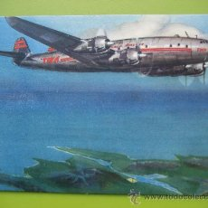 Postales: TWA. TRANS WORLD AIRLINE. SHANNON. SUPER- CONSTELLATION. POSTAL SIN CIRCULAR. AÑOS 50. Lote 24663728
