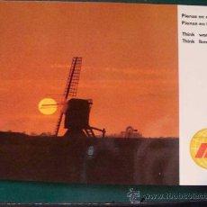 Postales: POSTAL DE AEROLÍNEAS IBERIA. AÑO 1970. MOLINO DE HOLANDA. AEROLÍNEA ESPAÑOLA. 1166. . Lote 24782248
