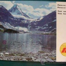Postales: POSTAL DE AEROLÍNEAS IBERIA. AÑO 1970. LAGO MONTAÑAS CANADÁ. AEROLÍNEA ESPAÑOLA. 1167. . Lote 24782259