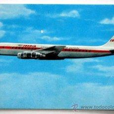 Postales: DOUGLAS DC-8 TURBOFAN. IBERIA.. Lote 26193297