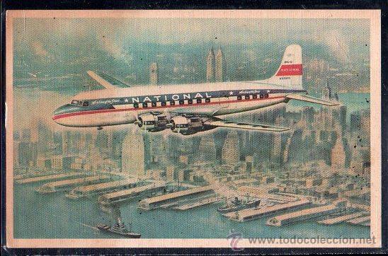 TARJETA POSTAL DEL AVION NATIONAL THE STAR (Postales - Postales Temáticas - Aeroplanos, Zeppelines y Globos)