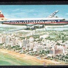 Postales: TARJETA POSTAL DEL AVION NATIONAL AIRLINES DC - 7. Lote 26537931