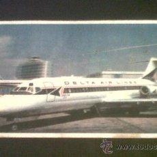 Postales: ANTIGUA POSTAL AVION AEROPUERTO DELTA AIR LINES DELTA DC 9 FANJET DIRIGIDA A CEHEGIN MURCIA 1967 . Lote 26802645