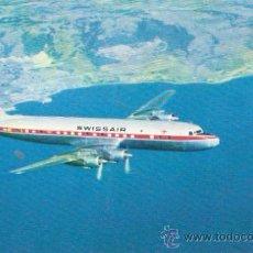 Postcards - SWISSAIR. DC-7C. Seven Seas. . Vell i Bell - 26808621