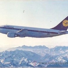 Postales: POSTAL A COLOR LUFTHANSA AIRBUS A310. Lote 27784628