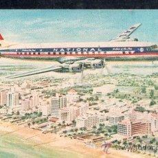 Postales: TARJETA POSTAL DEL AVION ESTADOUNIDENSE DC-7. Lote 27792530