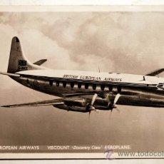Postales: AEROPLANE. VISCOUNT. DISCOVERY CLASS. BRITISH EUROPEAN AIRWAYS.. Lote 28150278