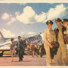 Postales: POSTAL TEMA AVION, AMERICAN AIRLINES, VOLANDO POR LA RUTA DE LOS (FLAGSHIPS) IN FLIGHT,. Lote 29103755