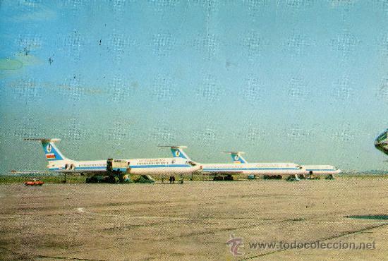 POLSKIE LINIE LOTNICZE POLISH AIRLINES ESCRITA CIRCULADA SELLO (Postales - Postales Temáticas - Aeroplanos, Zeppelines y Globos)
