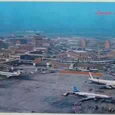 Postales: POSTAL DE AVIONES. AÑOS 60 - 70. AEROPUERTO DE LONDRES. ALITALIA, SABENA AVIÓN. 438. . Lote 29346722