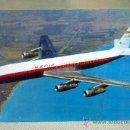 Postales: POSTAL PUBLICITARIA, JET DOUGLAS, DC - 8, TURBOFAN, IBERIA LINEAS AEREAS ESPAÑOLAS, RIEUSSET, 1963. Lote 29358347