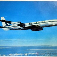 Postales: AVION. BOEING 707 B INTERCONTINENTAL. AIR FRANCE.. Lote 29513938
