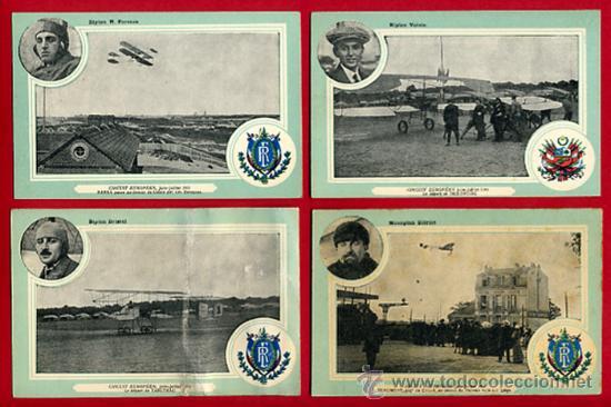 Postales: LOTE DE 19 POSTALES DE AVIONES ANTIGUOS ,CIRCUITO EUROPEO 1911, VER FOTOS, ANTIGUAS ORIGINALES - Foto 3 - 29575753