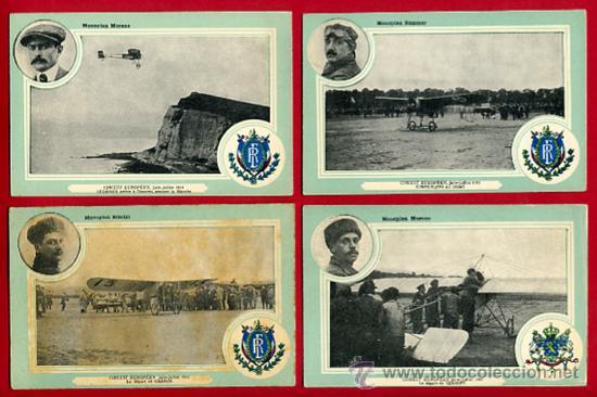 Postales: LOTE DE 19 POSTALES DE AVIONES ANTIGUOS ,CIRCUITO EUROPEO 1911, VER FOTOS, ANTIGUAS ORIGINALES - Foto 4 - 29575753