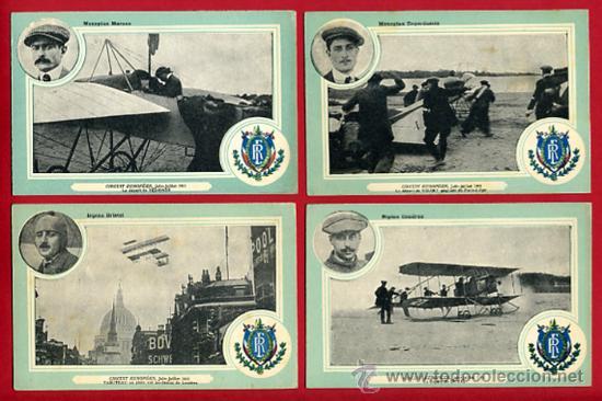 Postales: LOTE DE 19 POSTALES DE AVIONES ANTIGUOS ,CIRCUITO EUROPEO 1911, VER FOTOS, ANTIGUAS ORIGINALES - Foto 5 - 29575753