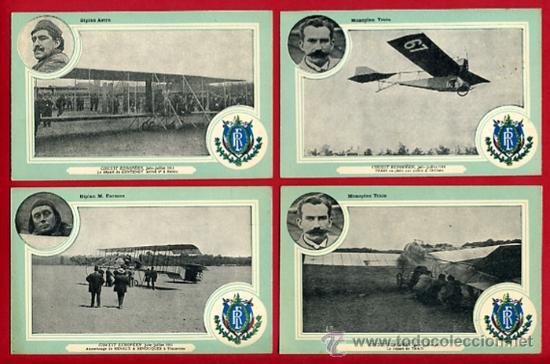 Postales: LOTE DE 19 POSTALES DE AVIONES ANTIGUOS ,CIRCUITO EUROPEO 1911, VER FOTOS, ANTIGUAS ORIGINALES - Foto 6 - 29575753
