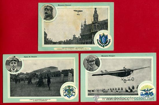Postales: LOTE DE 19 POSTALES DE AVIONES ANTIGUOS ,CIRCUITO EUROPEO 1911, VER FOTOS, ANTIGUAS ORIGINALES - Foto 7 - 29575753