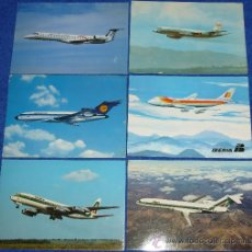 Postales: LOTE DE 6 POSTALES DE AVIONES. Lote 30122148