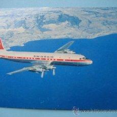 Postcards - Swissair. DC - 7C Seven Seas. Circulada - 31013226