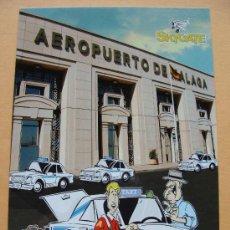 Postales: POSTAL DE AVIONES. AENA, AEROPUERTO DE MÁLAGA. FACHADA Y TAXI, TAXIS. SKYGATE. 187. . Lote 30612953
