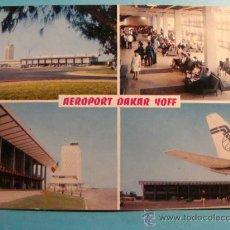 Postales: POSTAL DE AVIONES. AÑOS 60 - 70. AEROPUERTO DE DAKAR YOFF VISTAS. 1009. . Lote 31306041