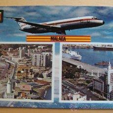 Postales: POSTAL DE AVIONES. AVIÓN DE IBERIA AÑO 1969. LÍNEAS AEREAS ESPAÑOLAS. VUELA A MÁLAGA. 239. . Lote 31218890