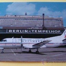 Postales: POSTAL DE AVIONES. AVIÓN SAAB SF 340A. TEMPELHOF AIRWAYS USA EN AEROPUERTO DE BERLIN. 1135 . Lote 32077071